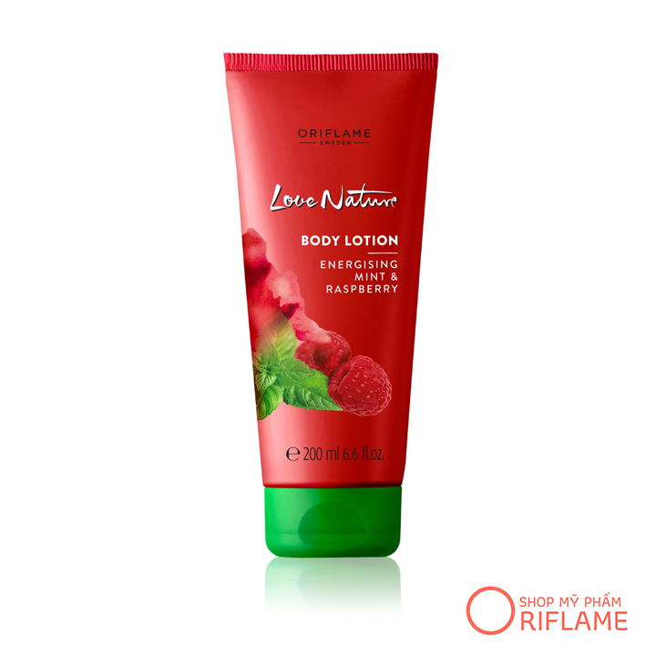 Dưỡng thể Love Nature Body Lotion with Energising Mint & Raspberry 32603