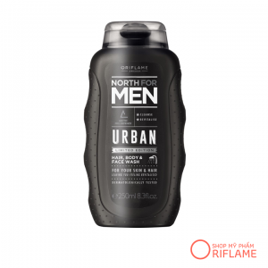 Tắm gội North For Men Urban Hair, Body & Face Wash 34852