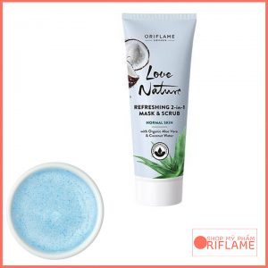 Love Nature Refreshing 2-in-1 Mask & Scrub with Organic Aloe & Coconut Water