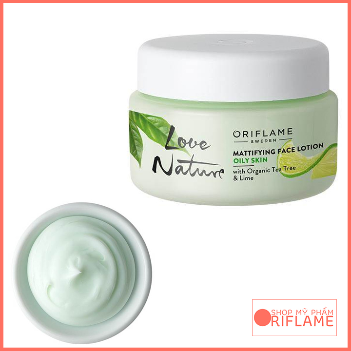 Love Nature Mattifying Face Lotion with Organic Tea Tree & Lime 34845