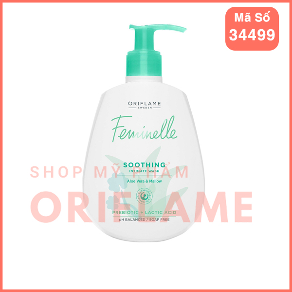 Dung Dịch Vệ Sinh Phụ Nữ Feminelle Soothing Intimate Wash Aloe Vera & Mallow 34499