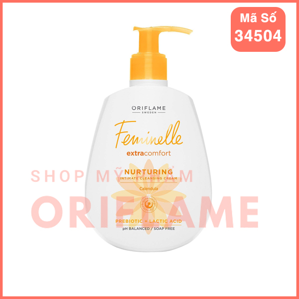Dung Dịch Vệ Sinh Phụ Nữ Feminelle Extra Comfort Nurturing Intimate Cleansing Cream Caledula 34504